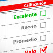 Feedback selection concept in Spanish - Stock Photo