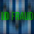 ID fraud binary background — Stock Photo