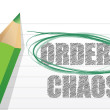 Selecting between order and chaos — Stock Photo
