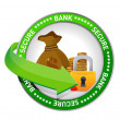 Bank secure Money icon seal - 图库照片