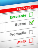 Feedback selection concept in Spanish — Stock Photo