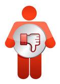 Icon dislike thumbs down — Stock Photo