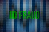 ID fraud binary background — Stock Photo