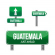 Guatemala Country road sign i — Stock Photo
