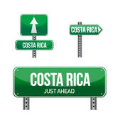 Costa rica Country road sign — Stock Photo