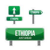 Ethiopia Country road sign — Stock Photo
