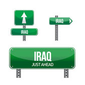 Iraq Country road sign — Foto de Stock