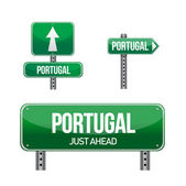 Portugal Country road sign — Stock Photo