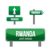 Ruanda ülke yol levhası — Stok fotoğraf