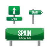 Spain Country road sign — Stock Photo