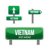 Vietnam Country road sign — ストック写真