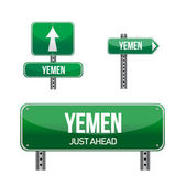 Yemen Country road sign — Stock Photo