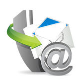 Phone mail at, contact us — Stock Photo
