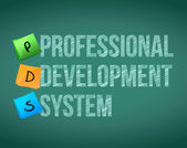 Professional development system and posts — Stock Photo
