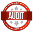 Audit stamp seal — Stock Photo