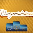 Congratulations lettering and podium illustration — Stock Photo #21650029