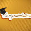 Graduation - Congratulations lettering — Stock Photo #21650039