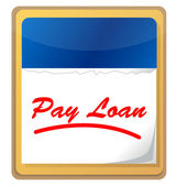 Pay loan calendar icon — Stock Photo