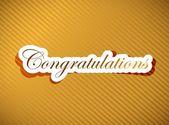 Congratulations lettering — Stock Photo