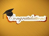 Graduation - Congratulations lettering — Stock Photo