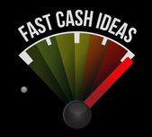 Fast cash idea speedometer — Stock Photo