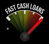 Fast cash loans speedometer illustration design — Stock Photo