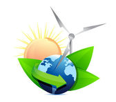 Renewal energy globe concept — Stock Photo