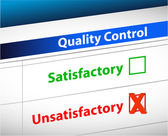Quality control Results business paperwork — Stock Photo