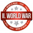 World war two red seal stamp — Stock Photo
