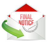 Final notice envelope mail correspondence — Stock Photo