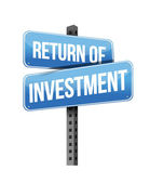 Return of investment sign — Stock Photo