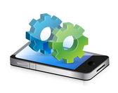 Endüstriyel gereçler smartphone — Stok fotoğraf
