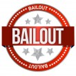 Bailout seal — Stock Photo