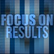 Focus on results on digital touch screen — Stock Photo