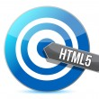 Bullseye target internet html5 illustration — Stock Photo