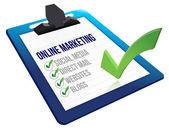 Clipboard Online marketing tools — Stock Photo
