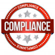 Stock Photo: Compliance seal