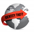 Identity theft globe — Stock Photo #21978197