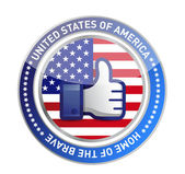 Like hand USA button — Stock Photo