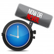 Now or never watch — Foto Stock