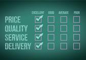 Evaluate customer survey form illustration design — Stock Photo