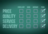 Evaluate customer survey form — Stock Photo
