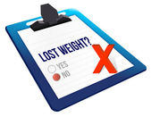 Lost weight yes or no selection — Stock Photo