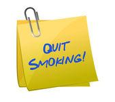 Parar de fumar post-it — Foto Stock