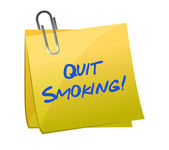 Quit smoking post it — Stock Photo