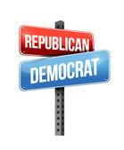 Republican, democrat — Stock Photo