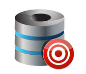 Database server with target — Stock Photo