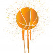 Ink splatter basketball — Stock Photo
