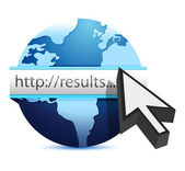 Globe searching for results — Stock Photo