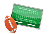Football field tactic table, Football balls — Stock Photo